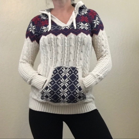 wholesale dealer 1612e c7a23 Superdry Fair Isle Nordic Knit Pullover Hoodie S